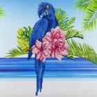 "Leisure Arts . LSA Blue Parrot Diamond Art Intermediate Kit 12""X12"""