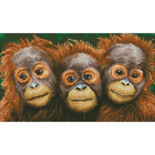 "Orangutangs Diamond Embroidery Facet Art Kit 18.5""X10.6"""