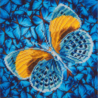 "Flutter/Gold Diamond Embroidery Facet Art Kit 15""X15"""