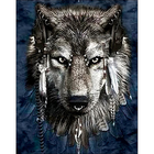 Collection D'Art . CDA Wolf Diamond Embroidery/Printed/Gem Kit 48X38cm