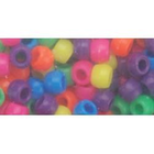 Darice . DAR Neon Multi Pony Beads 6mmX9mm 1lb