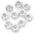 Darice . DAR Crystal Pony Beads 6mmX9mm 720/Pkg