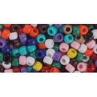 Darice . DAR Opaque Multicolor Pony Beads 6mm X 9mm 720/Pkg