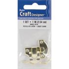 "Darice . DAR Brass Decorative Latch Set 1"" (2.54cm)"