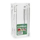 Darice . DAR (DISC) - Glass Craft Block