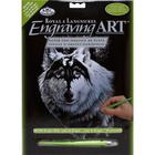 Royal (art supplies) . ROY Silver Engrave Art Dragon Wolf
