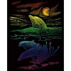 Royal (art supplies) . ROY Rainbow Engrave Art Dolphin Reef