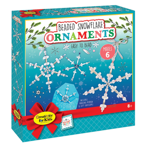 Creativity for kids . CFK Beaded Snowflake Ornaments