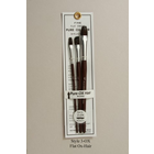 Atlas Brush Co. Inc . ABN 3 pack Ox Hair Paint Brushes