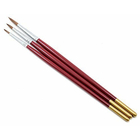 Atlas Brush Co. Inc . ABN 3 Pack Of Paint Brushes Red Sable Hair