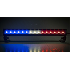 "Common Sense R/C . CSR LED Light Bar - 3.6"" - Police Lights (Red, White, and Blue lights)"
