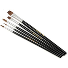 Atlas Brush Co. Inc . ABN 5 pc Camel Hair Set, Round & Flat