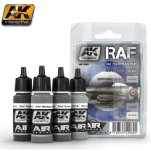 A K Interactive . AKI RAF DAY FIGHTER ACYRLIC PAINT SET