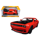 Jada Toys . JAD 1/24 2015 DODGE CHALLENGER SRT HELLCAT ORANGE