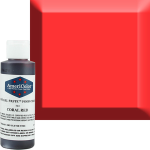 AmericaColor . AME AmeriColor 4.5oz Soft Gel � Coral Red