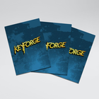 Sleeves: Keyforge Logo Matte Blue (40)