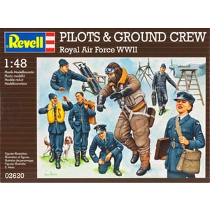 Revell of Germany . RVL (DISC) - 1/48 PILTS/GRND CREW WWII