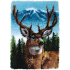 Caron . CAR Latch Hook - Deer 20 X 30