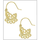 Earwire Paisley Nickle Free Gold Plated 2 pcs