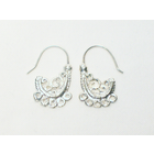 Earwire Paisly Nickle Free Silver Plated 2 pcs