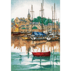"LanArte Counted Cross Stitch Kit 12.4"" X 17.2"" - Sunrise At Yacht Harbor (30 Count)"