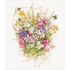 "LanArte Counted Cross Stitch Kit 12"" X 17.6"" - Summer Bouquet (27 Count)"