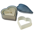 Fat Daddio's  . FAT Heart Cookie Cutter 7pc Set
