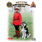 Icm . ICM 1/16 RCMP Female Officer With Dog