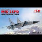 Icm . ICM 1/48 MiG-25 PD Soviet Interceptor