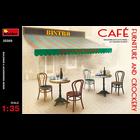 Miniart . MNA 1/35 Cafe Furniture & Crockery