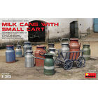 Miniart . MNA 1/35 Milk Cans With Cart