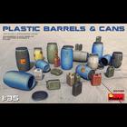 Miniart . MNA 1/35 Plastic Barrels And Cans
