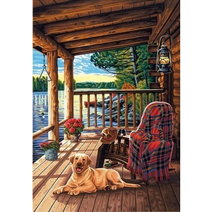 Dimensions . DMS Log Cabin Porch 14 x 20 Paint By Number