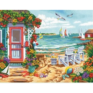 Dimensions . DMS Summertime Inlet - Paint By Numbers