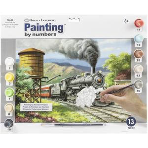 "Royal Brush . RBM Paint By Number Kit - "" No. 90's Daily Run"" 15.375"" X 11.25"""