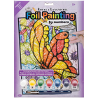 "Royal Brush . RBM Foil Paint By Number Kit - Butterflies"" 8"" X 10"""