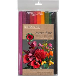 Enchanted Garden Colours - Extra Fine Crepe Paper 10 Rolls 6.5 Feet Each
