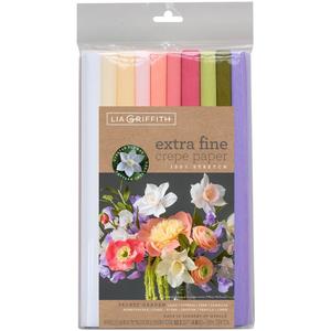 Secret Garden Colours - Extra Fine Crepe Paper 10 Rolls Each 6.5 Feet