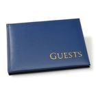 Darice . DAR (DISC) - Blue Gold Embossed Guest Book