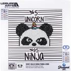 "Leisure Arts . LSA Panda Sparkle Art Diamond Paint Kit 10.63""X10.63"""
