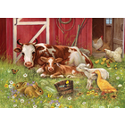 Cobble Hill . CBH Barnyard Babbies 350 pc Puzzle