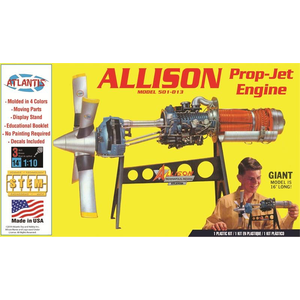 Atlantis Models . AAN 1/10 Allison Prop Jet 501-D13 Engine