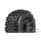 "Pro Line Racing . PRO Pro-Line Badlands 3.8"" MTD Raid 8x32 Wheels 17mm MT F/R"