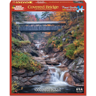 "White Mountain Puzzles . WMP Covered Bridge Jigsaw Puzzle 1000 Pieces 24""X30"""