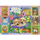 Cobble Hill . CBH Puppies & Posies Quilt Puzzle 1000pc