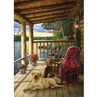 Cobble Hill . CBH Cabin Porch 1000 pc Puzzle