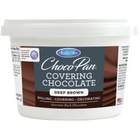 Satin Fine Foods . SFF Satin Ice ChocoPan Covering Chocolate 1lb Pail Deep Brown