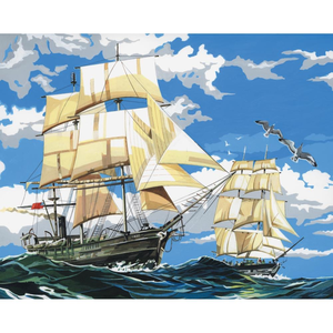 Royal (art supplies) . ROY Sailing Ships - Paint by Number