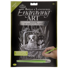 Royal (art supplies) . ROY Silver Engraving Spaniels