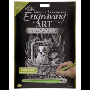 Royal (art supplies) . ROY Silver Engraving Spaniels